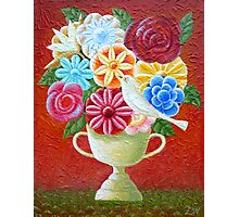A Vase Of Flowers Photographic Print