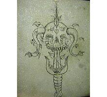 Sverd og Skull Photographic Print