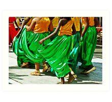 green swingers... Art Print