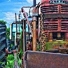 Trusty Rusty Tractor by James Brotherton