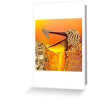 Hungry Bird in sunset Greeting Card