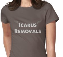 Icarus Removals inverted Womens Fitted T-Shirt