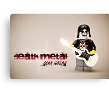 Death Metal Die-Hard Canvas Print