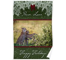 Cheetah Mother and Son for the Holidays Poster