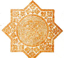 Orange Middle Eastern Geometric Design by RedPine