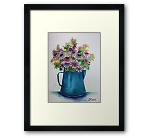 Pitcher Daisies Framed Print
