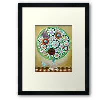 Green Flowers Framed Print