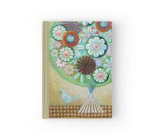 Green Flowers Hardcover Journal