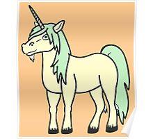 Light Green & Cream Unicorn Poster