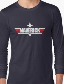 Custom Top Gun Style - Maverick Long Sleeve T-Shirt