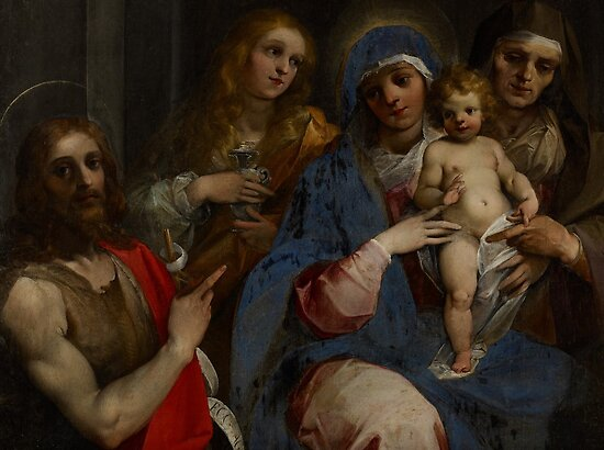 Madonna and Child with Saints John the Baptist, Mary Magdalene and Anne, c.1595 by Bridgeman Art Library
