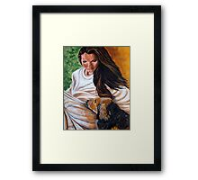 Front Porch Paws Framed Print