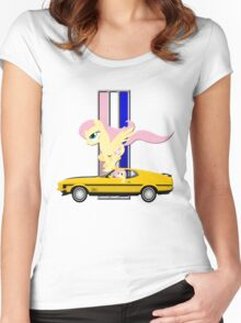 Mustang Fluttershy Women's Fitted Scoop T-Shirt