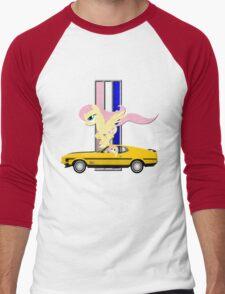 Mustang Fluttershy Men's Baseball ¾ T-Shirt
