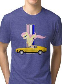 Mustang Fluttershy Tri-blend T-Shirt