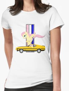 Mustang Fluttershy Womens Fitted T-Shirt