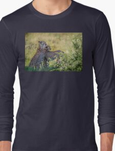 Cheetah Mother and Son Long Sleeve T-Shirt