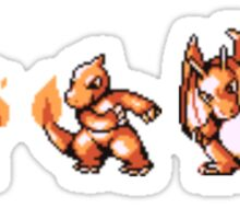 Starter Pokemon evolutions Sticker