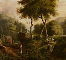Landscape, 1825 by Bridgeman Art Library