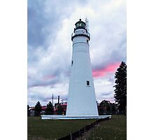 Fort Gratiot Lighthouse at Sunset Photographic Print