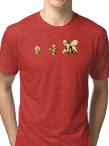 Weedle evolution  Tri-blend T-Shirt