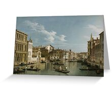 Grand Canal from Palazzo Flangini to Palazzo Bembo, c.1740 Greeting Card