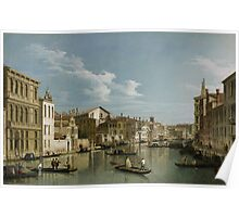 Grand Canal from Palazzo Flangini to Palazzo Bembo, c.1740 Poster