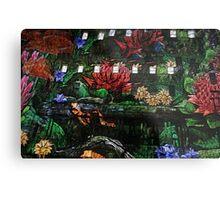 Flowers in the Clocktower Metal Print