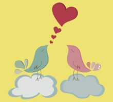 Love bird couple  Kids Tee