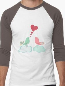 Love bird couple  Men's Baseball ¾ T-Shirt