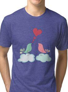 Love bird couple  Tri-blend T-Shirt