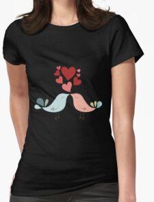 Bird lovers Womens Fitted T-Shirt