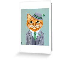 Tiarnan the Tabby Cat Greeting Card