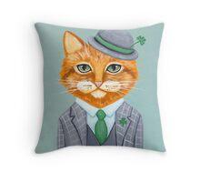Tiarnan the Tabby Cat Throw Pillow