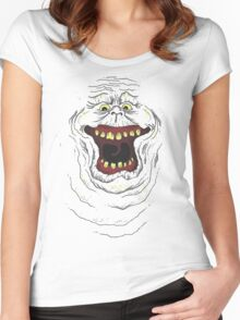 Who you gonna call? Slimer! Women's Fitted Scoop T-Shirt