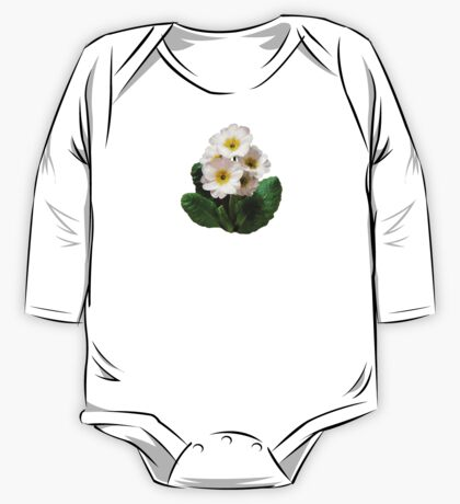 Small White Primroses One Piece - Long Sleeve