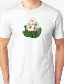 Small White Primroses Unisex T-Shirt