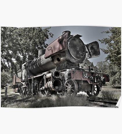 J 519 Steam Engine Poster