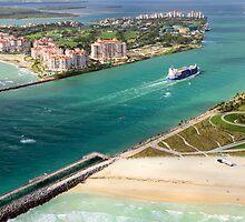 Entering Miami Harbour by Kasia-D