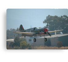 P40E Landing, Albury Airshow, Australia 2008 Canvas Print