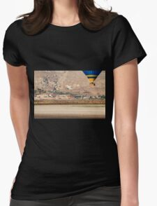 Hot air balloon photographed in the Jezreel Valley, Israel  Womens Fitted T-Shirt