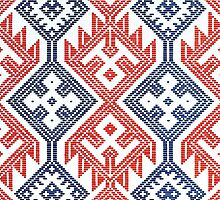Scandinavian / Nordic Embroidery Pattern 1 by RedPine