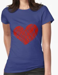 Valentine day doodle hearts  Womens Fitted T-Shirt