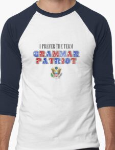 Grammar Patriot Men's Baseball ¾ T-Shirt