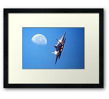 Heat haze to the moon Framed Print