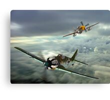 The Skies Over Germany ! Canvas Print