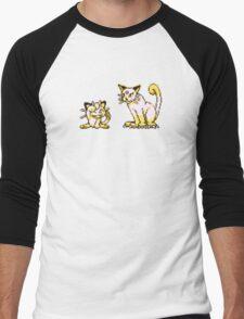 Meowth evolution  Men's Baseball ¾ T-Shirt