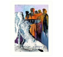 Mary Magdelin and Jesus Art Print
