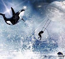 ...And the Whale Jumped Over the Moon... by Karen  Helgesen