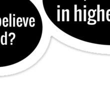 Math Religion Sticker
